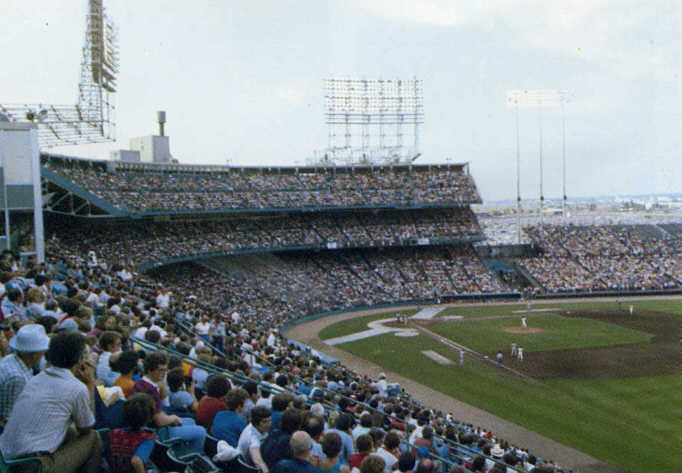 A hazy afternoon game (Source: Printed backwards in the Metrodome souvenir book, © 1982 MSP Publications, Inc.)