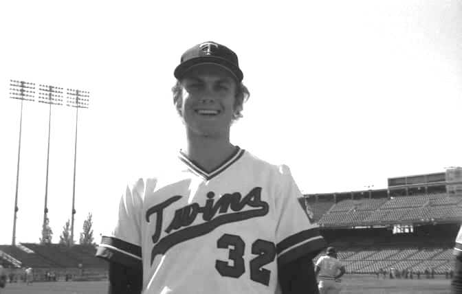 Photo Day: Pitcher Tom Johnson of the 1974 Minnesota Twins (Source: LP, 1974)