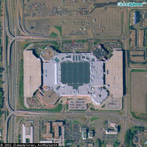 Aerial view of the Mall of America (Source: Mapquest)