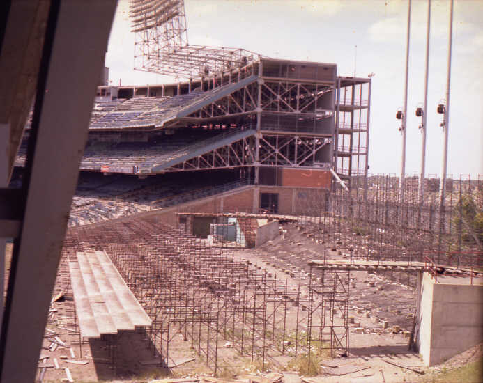 Abandoned: The remains of the third base temporary stands (Source: Robin Hanson)